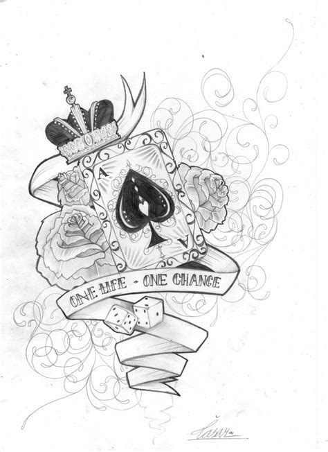 Clipart library: More Like Card tattoo design by skil-by-dopeone - Clip Art Library