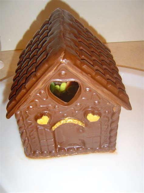 chocolat de noel maison maison chalet de no 235 l en chocolat rempli de bonbons 3d photo de cuisine cr 233 ative version