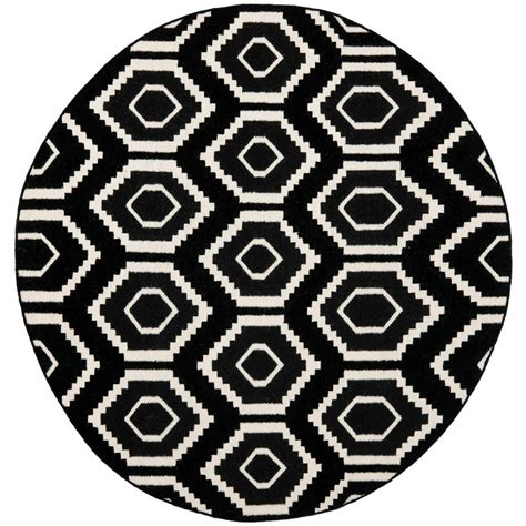 safavieh dhurries safavieh dhurries black ivory 6 ft x 6 ft area rug