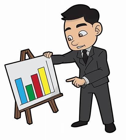 Cartoon Presenting Business Svg Report Director Sales