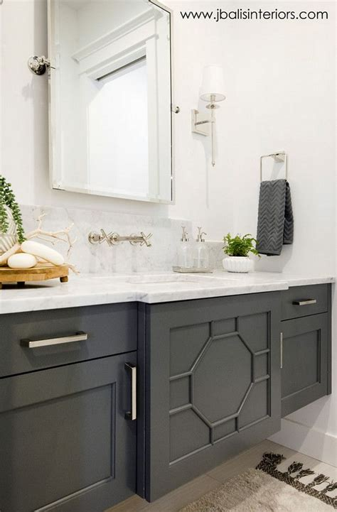 sherwin williams sw grizzle gray bathroom