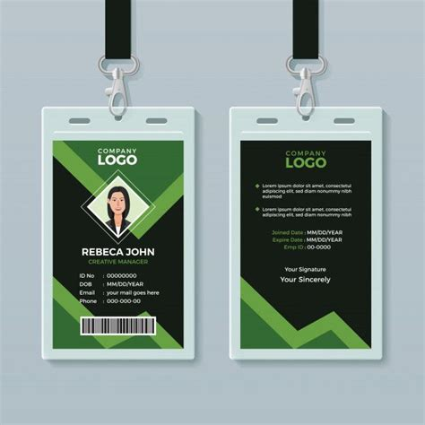 creative office id card template  images id card