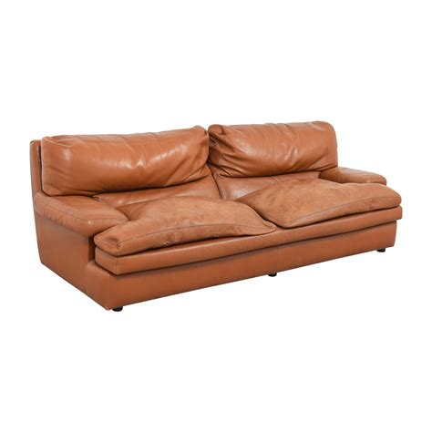 Roche Bobois Leather Sofa by 81 Roche Bobois Roche Bobois Burnt Orange Leather