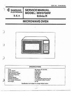 Samsung Model Mw3700w  Xaa Countertop Microwave Genuine Parts