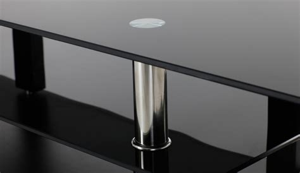 table de cuisine ikea en verre meuble tv raffi laque noir et verre meuble tv topkoo
