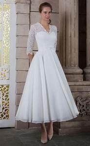 Tea length white dresses ejn dress for White tea length wedding dress