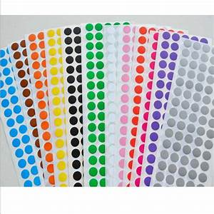 aliexpresscom buy 100 dot sheet 1cm circle round color With circle sticker sheets