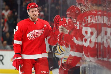 wings post game manthas  point night leads wings  bruins wingsnation