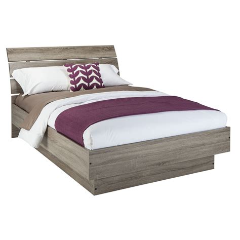 platform bed frame queen size  headboard modern panel