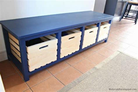 letter diy shoe storage bench