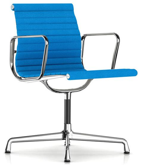 herman miller eames aluminum side chair with arms fabric