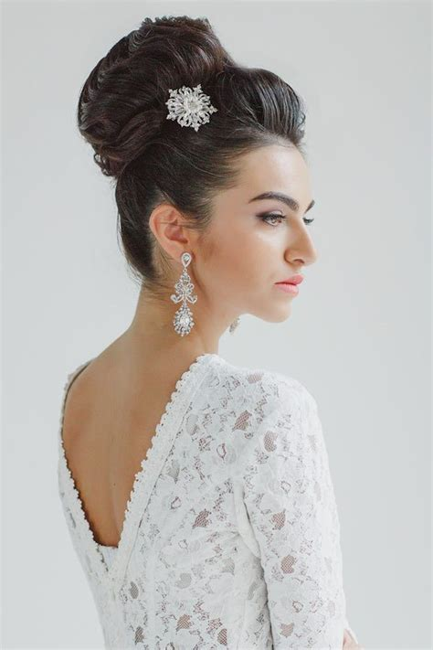 trendy knot bun hairstyle  bride   adore