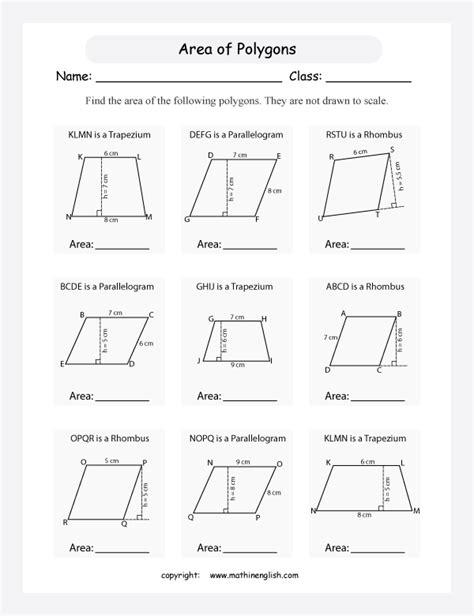 area of parallelogram worksheets worksheets for all