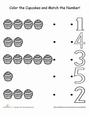 counting cupcakes coloring page educationcom
