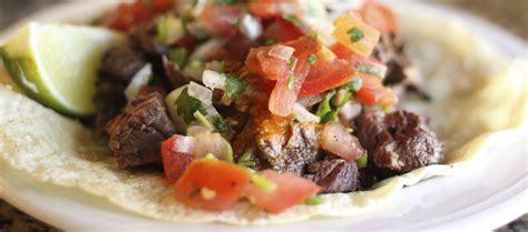 mini steak tacos  spicy pico de gallo la tortilla