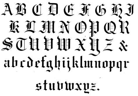 gothic writing blackletter alphabet  originates