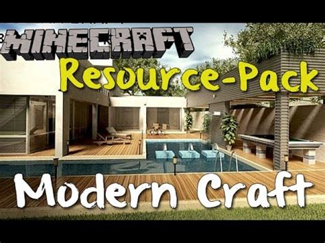 Minecraft Resource Pack Review!  Modern Craft Hd! Smooth