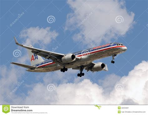 avion de passagers d american airlines photo 233 ditorial image 22534061