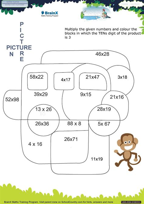 brainx grade3 mini math worksheets for grade 3