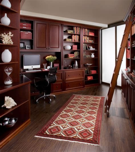 home office  cherry wood traditional home office