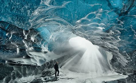 A stunning ice cave in Iceland - Mirror Online