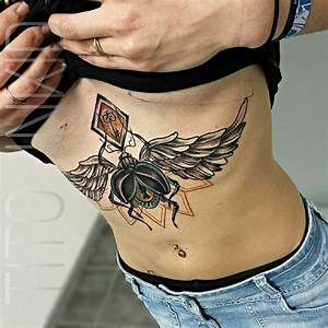 44 Amazing Designs Of Sternum Tattoos That Make Women