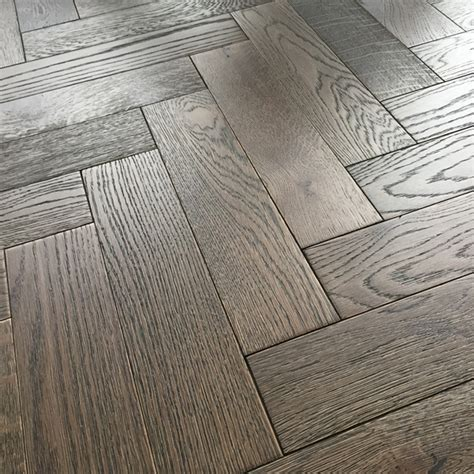 18mm Herringbone Engineered Dark Oak Brushed Matt