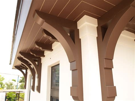 Outdoor Corbels by Large Builder Brackets Traditional Exterior Miami
