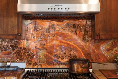 copper kitchen backsplash tiles copper backsplash copper backsplash with