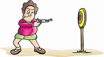 Target Practice Clipart Cartoon Gun Rifle Blouse