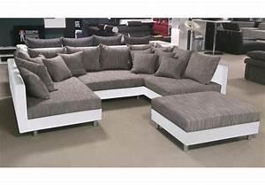 Couch überwurf Xxl : wohnlandschaft claudia ecksofa couch xxl sofa mit ottomane und hocker ebay ~ Eleganceandgraceweddings.com Haus und Dekorationen