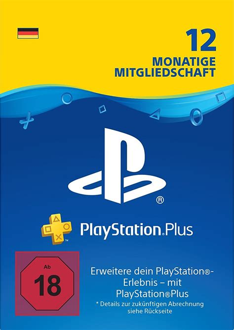 PlayStation Plus Mitgliedschaft  12 Monate  PS4 Download