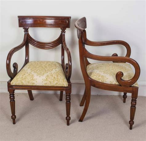 furniture vintage style set of 16 vintage regency style dining chairs swag back 1142