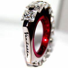 not your typical engagement ring on pinterest princess With edgy wedding rings