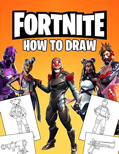 fortnite   draw   draw fortnite book fortnite  popular characters  weapons
