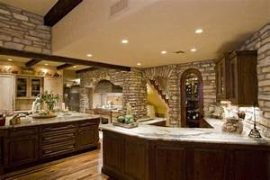 10, Amazing, Stone, Kitchen, Designs, For, Rustic, Look