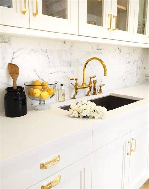 backsplash with white cabinets black kitchen cabinets gold hardware design ideas