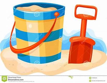 Sand Beach Clipart Pail Shovel Toys Bucket