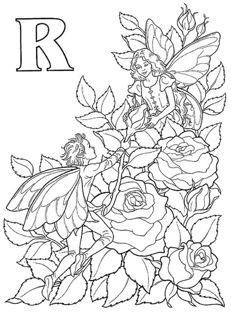 Flower fairy coloring page Kids: Coloring Book Fairy