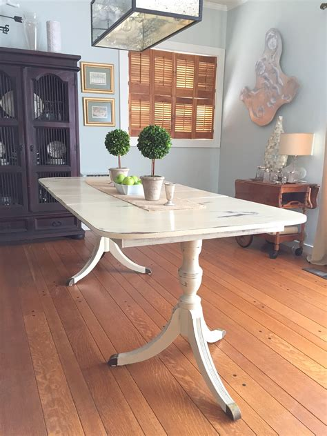 Dining Room Table by Painting A Duncan Phyfe Dining Room Table Barnaclebutt
