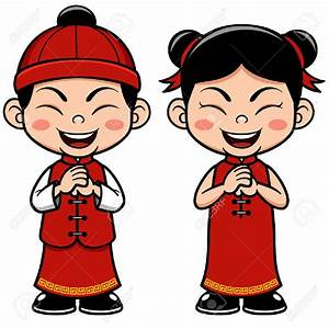 Asian clipart asian boy - Pencil and in color asian ...