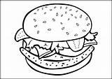 Hamburger Sheet Burger Coloring Cheeseburger Pages Template Sheets Paper sketch template