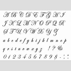Edwardian Script Complete Alphabet Letter And Number Stencil  Handwriting  Script Alphabet