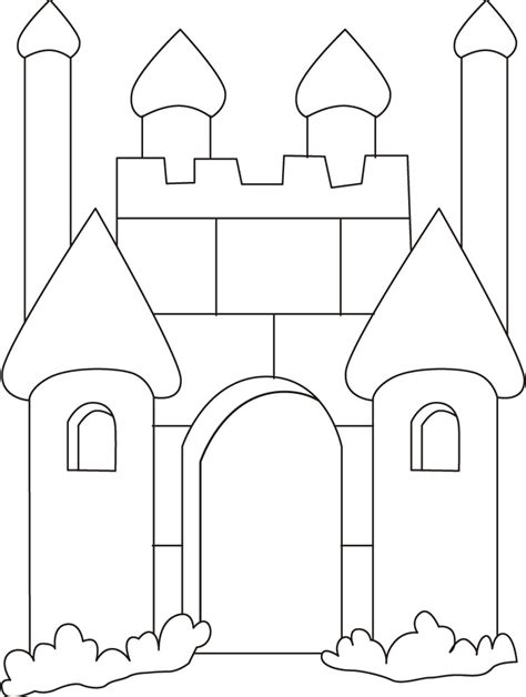 medieval castle coloring pages   medieval
