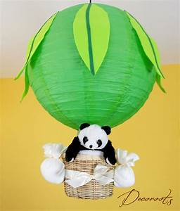 Lustre Montgolfière Bebe : lampe lustre pampy le panda vert fresh ou rose enfant b b luminaire enfant b b decoroots ~ Teatrodelosmanantiales.com Idées de Décoration