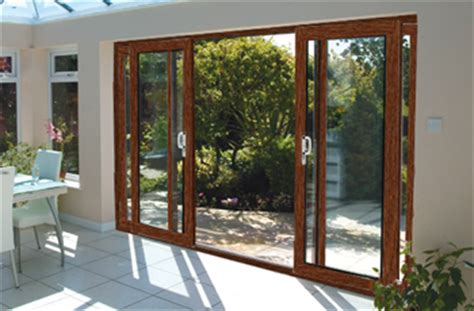 16ft ft oak on white upvc pvc sliding patio doors