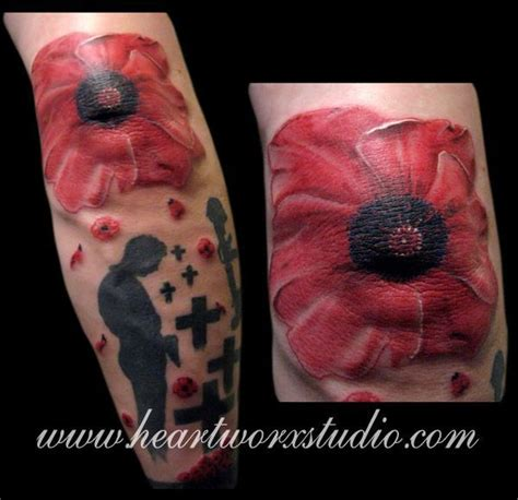 poppy tattoo images  pinterest poppies tattoo
