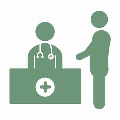 Icon Consultation Patient Doctor Education Gastroenterologist Icons