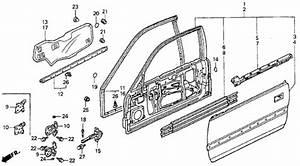 Oem Honda Accord Coupe 1991 Door Panel Parts