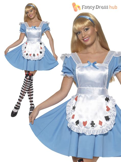 Déguisement Au Pays Des Merveilles Adulte Adulte Au Pays Des Merveilles D 233 Guisement Femme Fairytale Storybook Costume Ebay